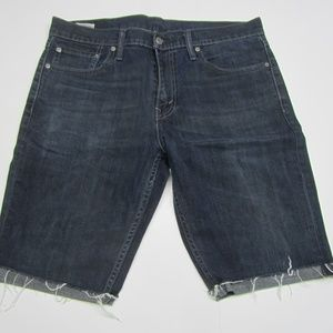 LEVI'S 511 Factory Cut-Off Jean Shorts Mens 33